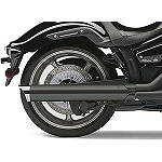 Cobra Scalloped Tip Slip-On Exhaust - Black -  Metric Cruiser Slip On Exhaust Systems