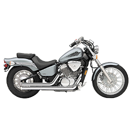 Cobra Streetrod Exhaust - 1997 Honda Shadow VLX Deluxe - VT600CD Cobra Headlight Visor - 7 1/2