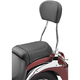 Cobra Standard Round Sissy Bar - Chrome - 2006 Honda VTX1800S3 Cobra Front Floorboards Swept - Chrome