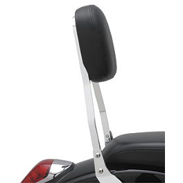 Cobra Standard Sissy Bar - Chrome - 2008 Yamaha V Star 1100 Custom - XVS11 Cobra Passenger Floorboards - Swept Chrome