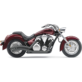 Cobra Speedster Swept Exhaust - Black - 2011 Honda Stateline 1300 - VT1300CR Cobra Front Floorboards Swept - Chrome