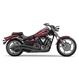 Cobra Speedster Swept Exhaust - Black - 2012 Yamaha Raider 1900 - XV19C Cobra Sissy Bar Luggage Rack - Chrome