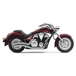 Cobra Speedster Swept Exhaust - Chrome - 2004 Yamaha Road Star 1700 Silverado - XV17AT Cobra Headlight Visor - 7 1/2