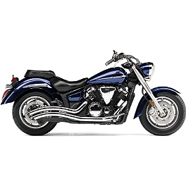 Cobra Speedster Swept Exhaust - Chrome - Vance & Hines Big Radius 2-Into-2 Exhaust - Chrome