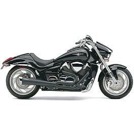 Cobra Tri-Pro 2-Into-1 Exhaust - Black - 2011 Yamaha Stryker - XVS13CA Cobra Speedster Slashdown Exhaust