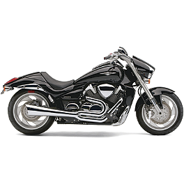 Cobra Tri-Pro 2-Into-1 Exhaust - Chrome - Show Chrome Classic Windshield For Oversized Forks