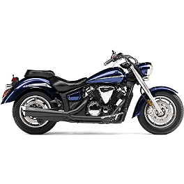 Cobra Tri-Pro HP 2 Into 1 Exhaust - Black - 2011 Yamaha V Star 1300 Tourer - XVS13CT Cobra Lightbar - Chrome