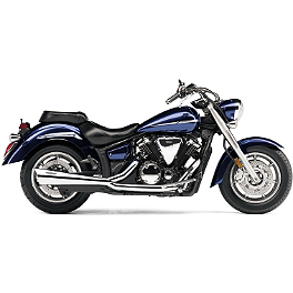 Cobra Tri-Pro HP 2 Into 1 Exhaust - Chrome - 2011 Yamaha V Star 1300 Tourer - XVS13CT Cobra Headlight Visor - 7 1/2