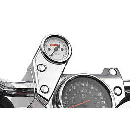 Cobra Tachometer - Chrome - 1997 Kawasaki Vulcan 800 - VN800A Cobra Dash Plaque - Fluted