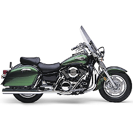 Cobra True Duals Billet Tips Exhaust - 2000 Kawasaki Vulcan 1500 Nomad Fi - VN1500L MC Enterprises Saddlebag Top Racks