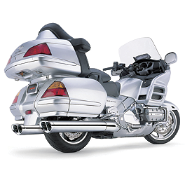 Cobra Tri-Oval Slip-On Exhaust - 2007 Honda Gold Wing 1800 Audio Comfort - GL1800 Cobra Scalloped Tip Slip-On Exhaust