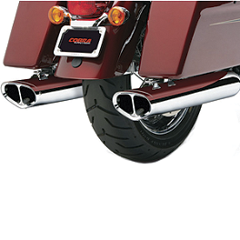 Cobra Tri-Oval Slip-On Exhaust - 2012 Kawasaki Vulcan 1700 Vaquero - VN1700J Cobra Touring Slip-On Muffler With Billet Tips
