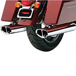 Cobra Tri-Oval Slip-On Exhaust -  Metric Cruiser Slip On Exhaust Systems
