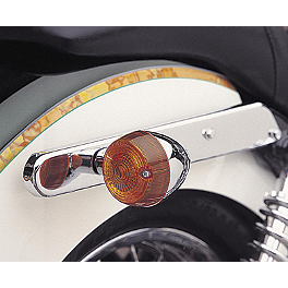 Cobra Rear Turn Signal Relocation Kit - 2003 Honda Shadow Spirit 1100 - VT1100C Cobra Passenger Floorboards - Swept Chrome