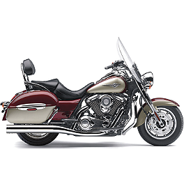 Cobra Touring Slip-On Muffler With Billet Tips - 2012 Kawasaki Vulcan 1700 Vaquero - VN1700J Cobra Tri-Oval Slip-On Exhaust