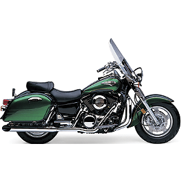 Cobra True Duals Slashdown Exhaust - 2000 Kawasaki Vulcan 1500 Nomad Fi - VN1500L MC Enterprises Saddlebag Top Racks