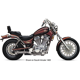Cobra 2-Sided Slashcut Slip-On Exhaust - 2005 Suzuki Boulevard S50 - VS800GLB Cobra Headlight Visor - 7 1/2