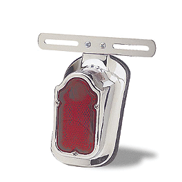 Cobra Tombstone Tail Light - 2000 Yamaha V Star 1100 Custom - XVS1100 Cobra Formed Sissy Bar Luggage Rack - Chrome