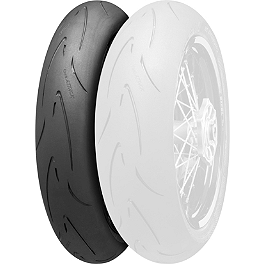 Continental Attack SM Supermoto Radial Front Tire - 120/70HR17 - Continental Road Attack 2 Hypersport Touring Radial Rear Tire - 160/60ZR18