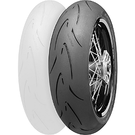 Continental Attack SM Supermoto Radial Rear Tire - 160/60HR17 - Continental Road Attack 2 Hypersport Touring Radial Front Tire - 110/80ZR18