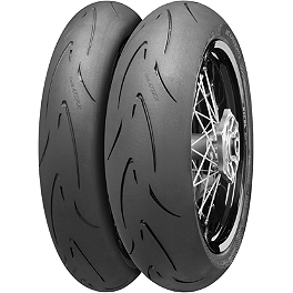 Continental Attack SM Supermoto Radial Tire Combo - Continental Sport Attack 2 Hypersport Radial Rear Tire - 190/50ZR17