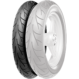 Continental GO! Front Tire - 110/70-17HB - Hard Krome Slash-Cut Staggered Duals Exhaust