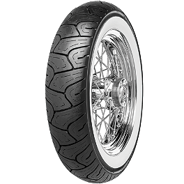Continental Milestone Front Tire - 130/90-16H Wide Whitewall - Dunlop Cruisemax Front Tire - 130/90-16 Wide Whitewall