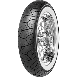 Continental Milestone Rear Tire - 140/90-16H Wide Whitewall - BikeMaster Tube 3.25/3.50-16 Straight Metal Stem