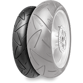Continental Road Attack Front Tire - 120/70ZR17 - Continental Trail Attack Dual Sport Radial Rear Tire - 140/80R17