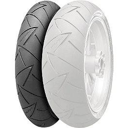 Continental Road Attack 2 GT Touring Radial Front Tire - 120/70ZR17 - Jardine RT-5 Dual Slip-On Titanium Exhaust