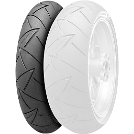 Continental Road Attack 2 Hypersport Touring Radial Front Tire - 110/70ZR17 - Continental Race Attack Custom Radial Front Tire - 90/90-21