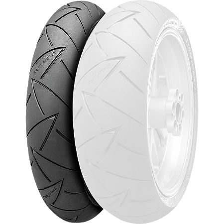 Continental Road Attack 2 Hypersport Touring Radial Front Tire - 110/80ZR18 - Main