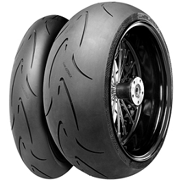 Continental Race Attack Custom Radial Tire Combo - Continental Sport Attack 2 Hypersport Radial Front Tire - 110/70ZR17