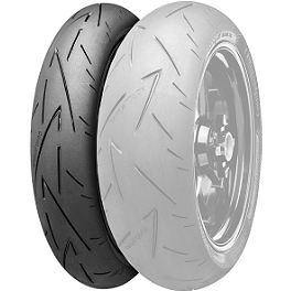 Continental Sport Attack 2 Hypersport Radial Front Tire - 110/70ZR17 - Continental Trail Attack Dual Sport Radial Rear Tire - 140/80R17