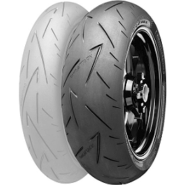Continental Sport Attack 2 Hypersport Radial Rear Tire - 190/50ZR17 - Continental Trail Attack Dual Sport Radial Front Tire - 110/80R19