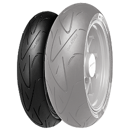Continental Sport Attack Hypersport Radial Front Tire - 120/70ZR17 - Continental Trail Attack Dual Sport Radial Rear Tire - 150/70R17