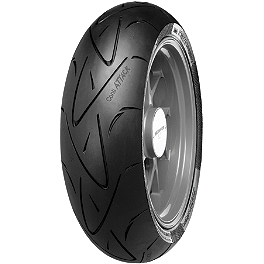 Continental Sport Attack Hypersport Radial Rear Tire - 180/55ZR17 - 2007 Honda CBR600RR Jardine RT-1 Slip-On Titanium Dual Outlet Exhaust