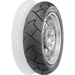 Continental Trail Attack Dual Sport Radial Rear Tire - 130/80R17 - FMF Powercore GP Slip-On Exhaust - Titanium