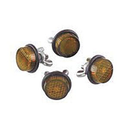 Chris Product Mini Reflectors - Amber - Chris Product Mini Reflectors - Red