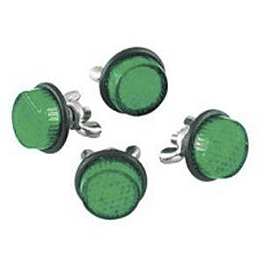Chris Product Mini Reflectors - Green - Street FX Hex LED Valve Cap