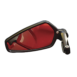 CRG Arrow Bar End Mirror - 2007 Ducati Monster S4R Testastretta CRG Roll-A-Click Folding Clutch Lever