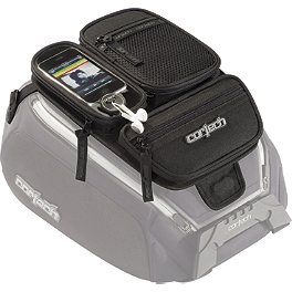 Cortech Dryver Medium Tank Bag Organizer Pocket - 2000 Suzuki GS 500E Cortech Medium Dryver Tank Bag And Mount Combo