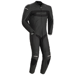 Cortech Latigo RR Leather One-Piece Suit - Olympia Stealth One-Piece Mesh Suit