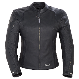 Cortech LNX Ladies Leather Jacket - Power Trip Women's Leather Scarlet Jacket