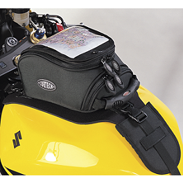 Cortech Supermini Tank Bag 6.5 Liter - Strap Mount - 1990 Suzuki GS 500E Cortech Small Dryver Tank Bag And Mount Combo
