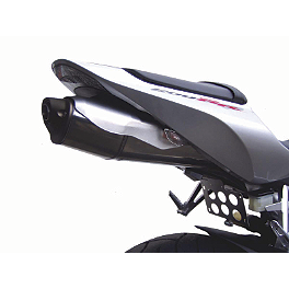 Competition Werkes Fender Eliminator Kit - Pivot License Plate Mount - 2005 Honda CBR600RR Lockhart Phillips Afterburner LED Blinker Tail Light