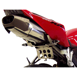 Competition Werkes Fender Eliminator Kit - Pivot License Plate Mount - 2005 Honda CBR1000RR Competition Werkes Rider Footpegs