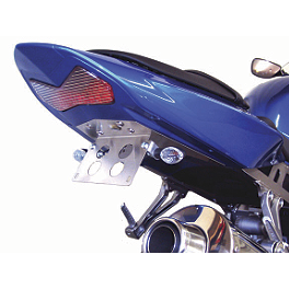 Competition Werkes Fender Eliminator Kit - Standard - 2006 Kawasaki ZX600 - ZZ-R 600 Rumble Concept Ghost Flush Mount LED Turn Signals - Smoke