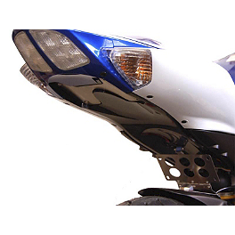 Competition Werkes Fender Eliminator Kit - Pivot License Plate Mount - 2006 Suzuki GSX-R 600 Competition Werkes Rider Footpegs