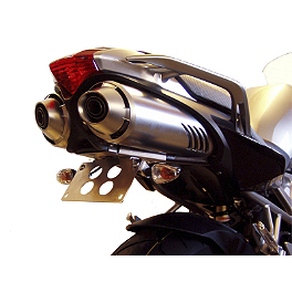 Competition Werkes Fender Eliminator Kit - Standard - 2006 Yamaha FZ6 Rumble Concept Ghost Flush Mount LED Turn Signals - Smoke
